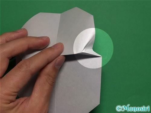 折り紙で簡単な雪だるまの折り方14