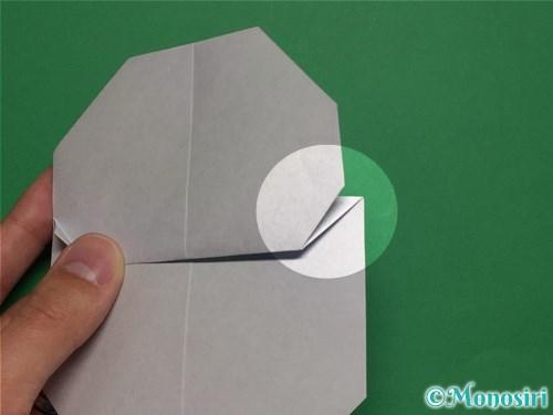折り紙で簡単な雪だるまの折り方15