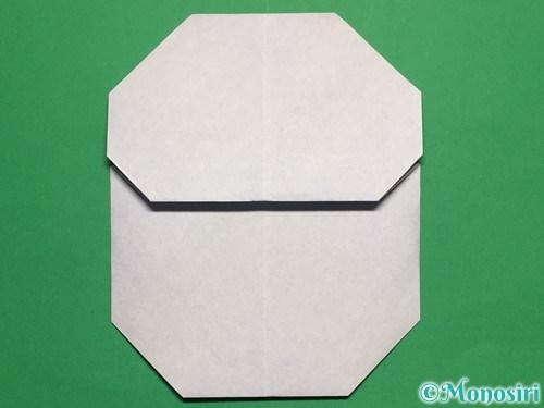 折り紙で簡単な雪だるまの折り方16