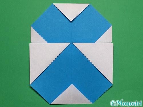折り紙で簡単な雪だるまの折り方17