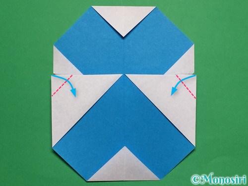 折り紙で簡単な雪だるまの折り方18