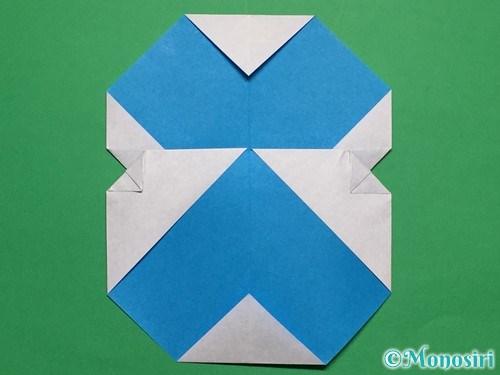 折り紙で簡単な雪だるまの折り方19