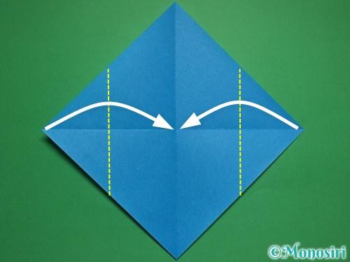 折り紙で簡単な雪だるまの折り方2