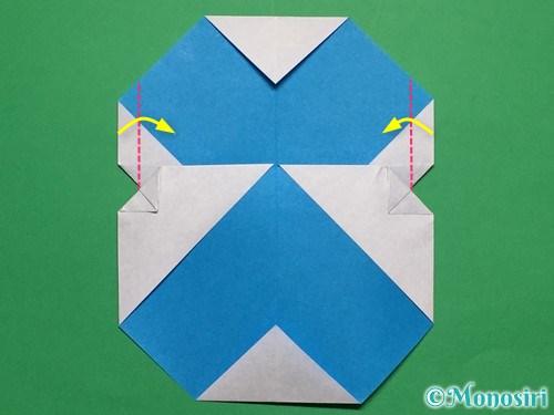 折り紙で簡単な雪だるまの折り方20