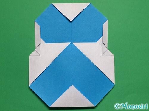 折り紙で簡単な雪だるまの折り方21