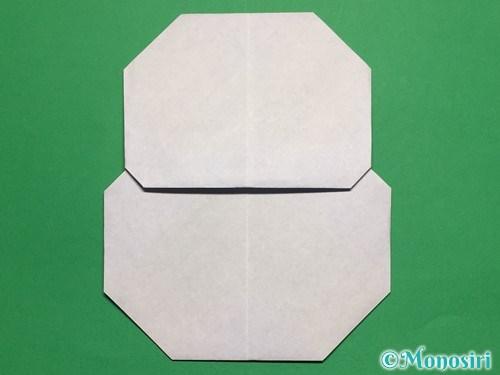 折り紙で簡単な雪だるまの折り方22