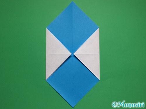 折り紙で簡単な雪だるまの折り方3