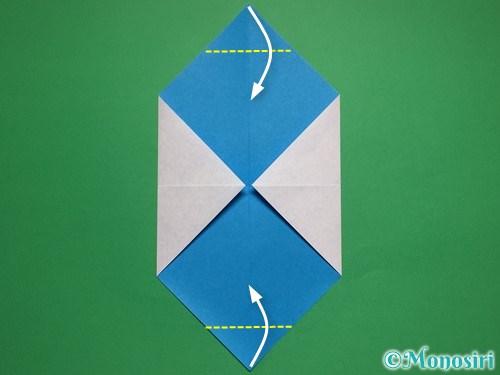 折り紙で簡単な雪だるまの折り方4