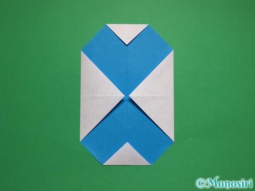 折り紙で簡単な雪だるまの折り方5