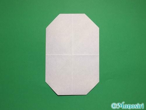 折り紙で簡単な雪だるまの折り方6
