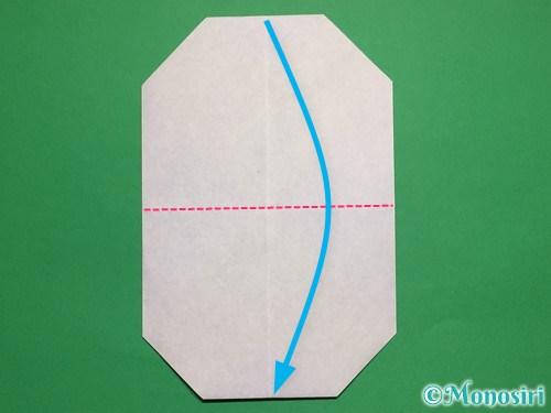折り紙で簡単な雪だるまの折り方7