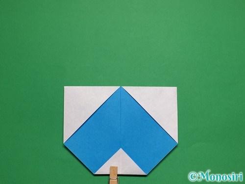 折り紙で簡単な雪だるまの折り方8