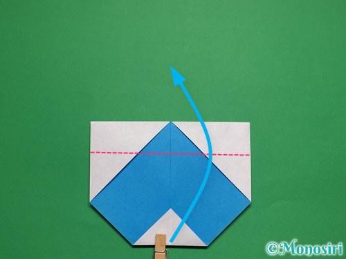 折り紙で簡単な雪だるまの折り方9