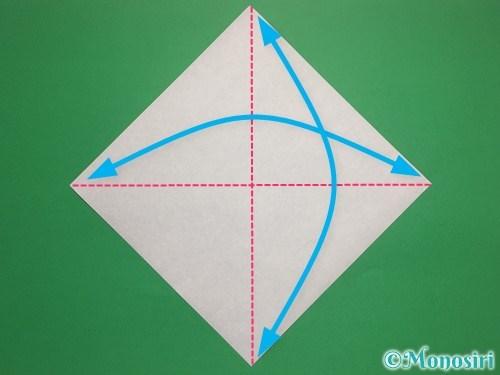 折り紙で帽子付き雪だるまの折り方1