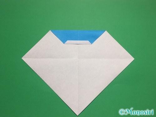 折り紙で帽子付き雪だるまの折り方10
