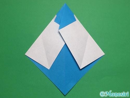 折り紙で帽子付き雪だるまの折り方13