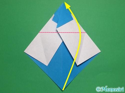 折り紙で帽子付き雪だるまの折り方14