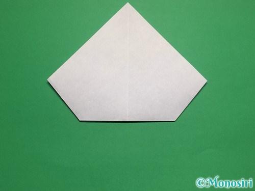 折り紙で帽子付き雪だるまの折り方15
