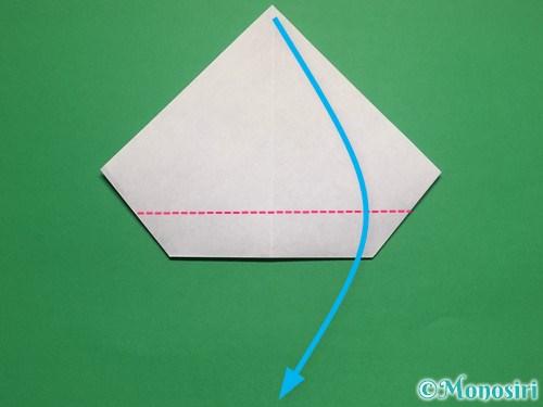 折り紙で帽子付き雪だるまの折り方16