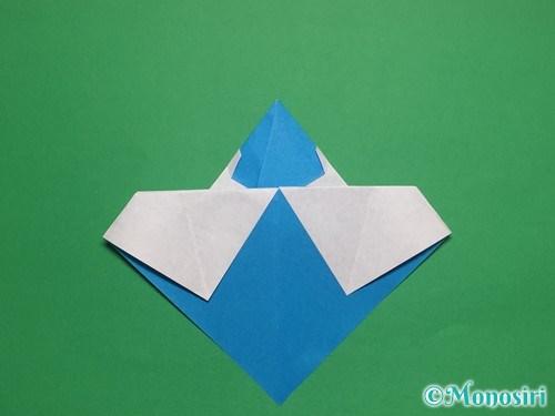 折り紙で帽子付き雪だるまの折り方17
