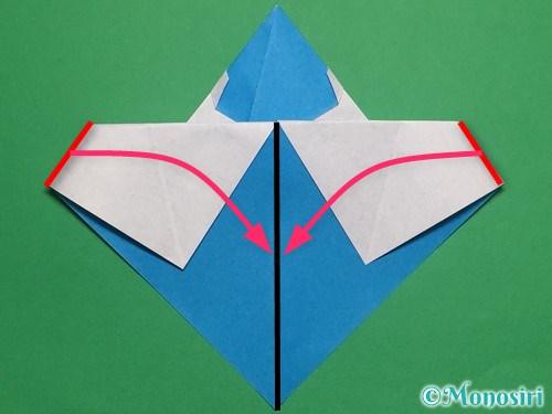 折り紙で帽子付き雪だるまの折り方18