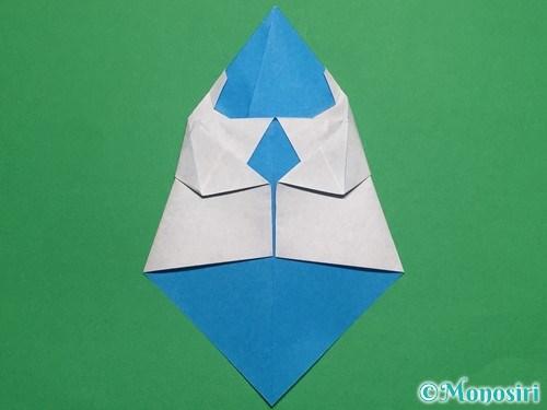 折り紙で帽子付き雪だるまの折り方19