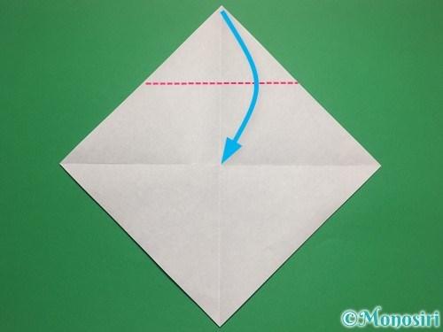 折り紙で帽子付き雪だるまの折り方2