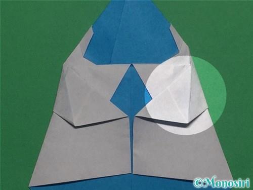 折り紙で帽子付き雪だるまの折り方20