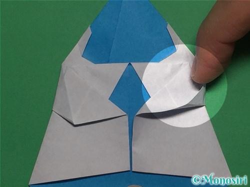 折り紙で帽子付き雪だるまの折り方21