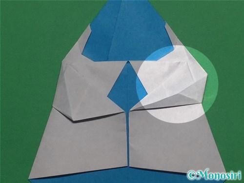折り紙で帽子付き雪だるまの折り方22
