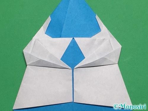 折り紙で帽子付き雪だるまの折り方23