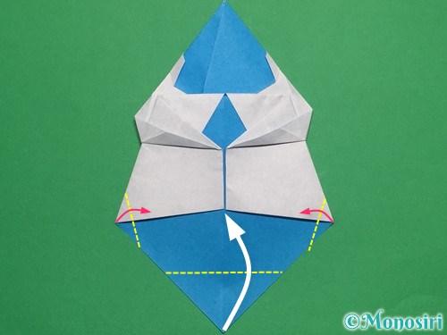 折り紙で帽子付き雪だるまの折り方24