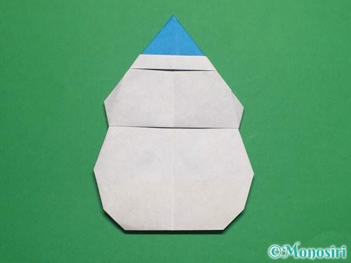 折り紙で帽子付き雪だるまの折り方26