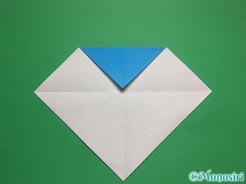 折り紙で帽子付き雪だるまの折り方3