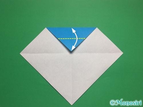 折り紙で帽子付き雪だるまの折り方4