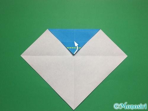 折り紙で帽子付き雪だるまの折り方5