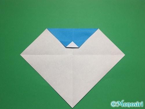 折り紙で帽子付き雪だるまの折り方6