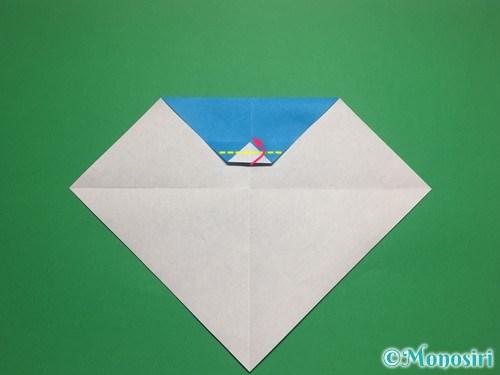 折り紙で帽子付き雪だるまの折り方7
