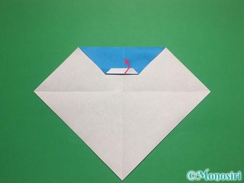 折り紙で帽子付き雪だるまの折り方9