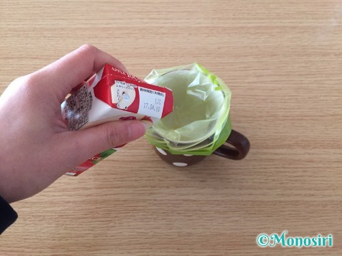 冷凍庫を使わずに作るアイスキャンディ作成手順2