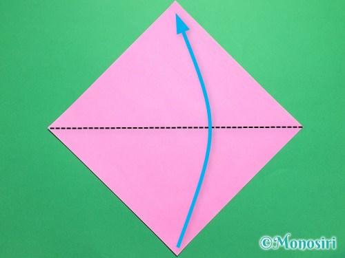 折り紙で桜の花びらの作り方手順1