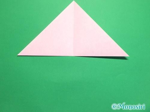 折り紙で桜の花びらの作り方手順4