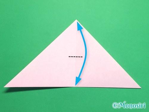 折り紙で桜の花びらの作り方手順5