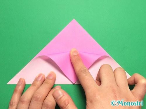 折り紙で桜の花びらの作り方手順6