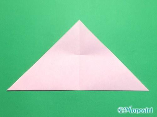 折り紙で桜の花びらの作り方手順7