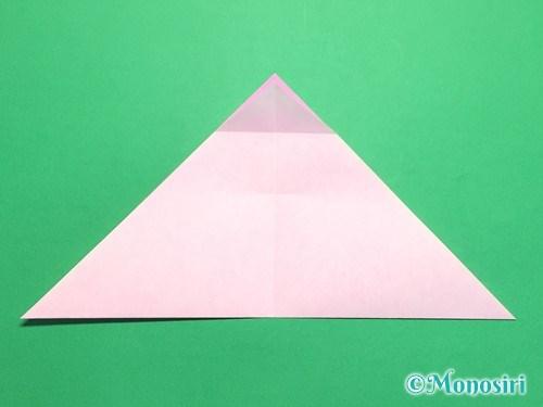 折り紙で桜の花びらの作り方手順9