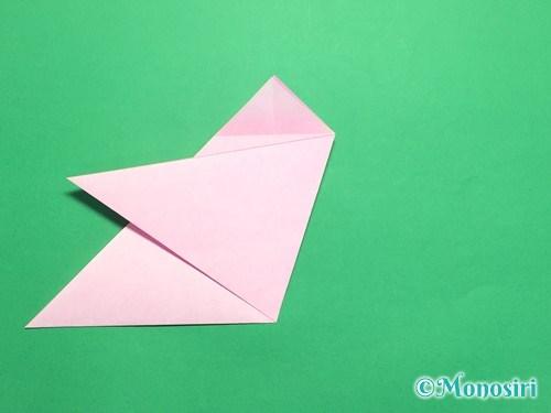 折り紙で桜の花びらの作り方手順11