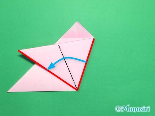 折り紙で桜の花びらの作り方手順12