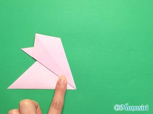 折り紙で桜の花びらの作り方手順13