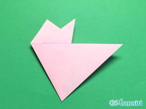 折り紙で桜の花びらの作り方手順14